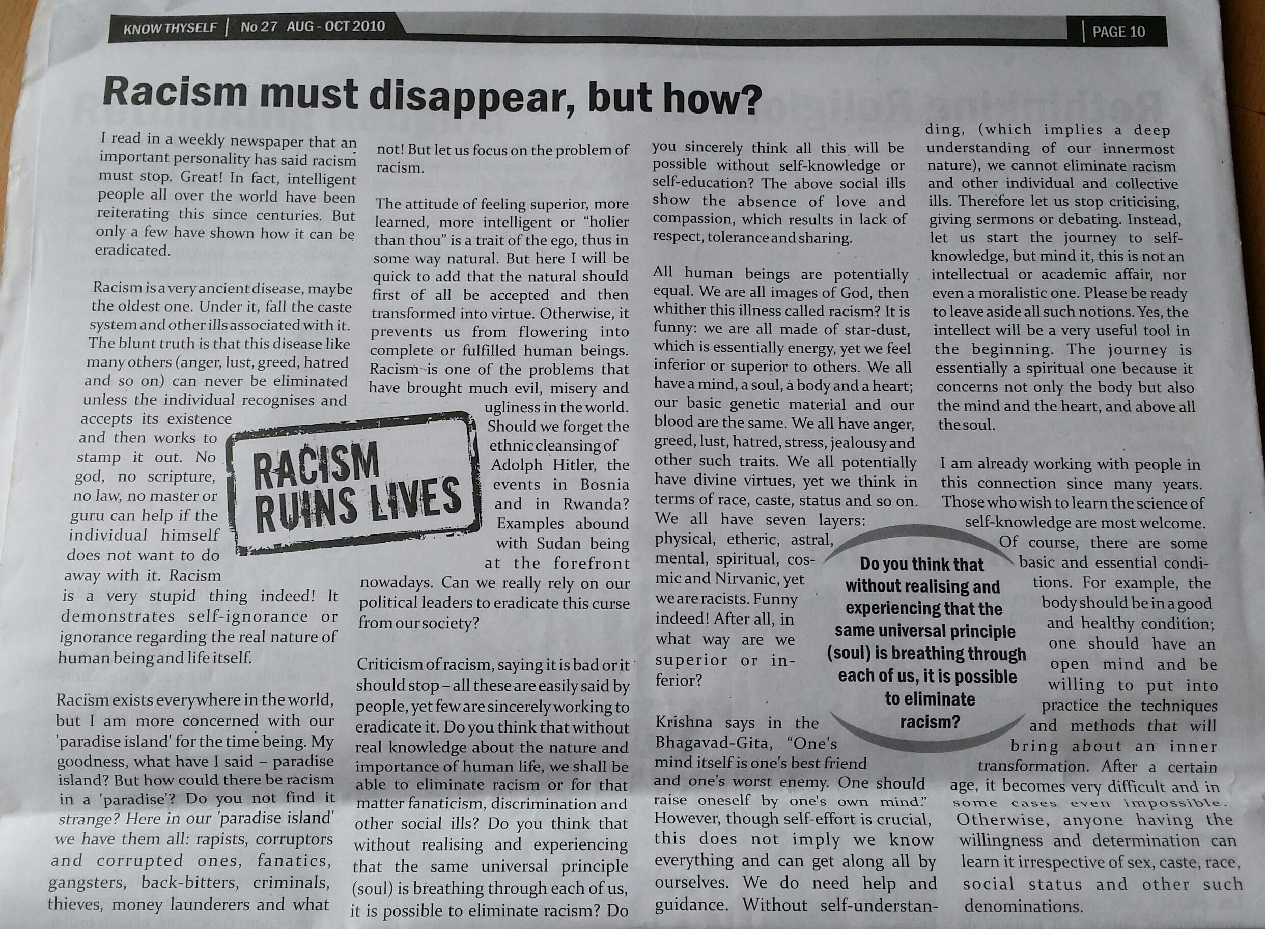 Racism - Magazine