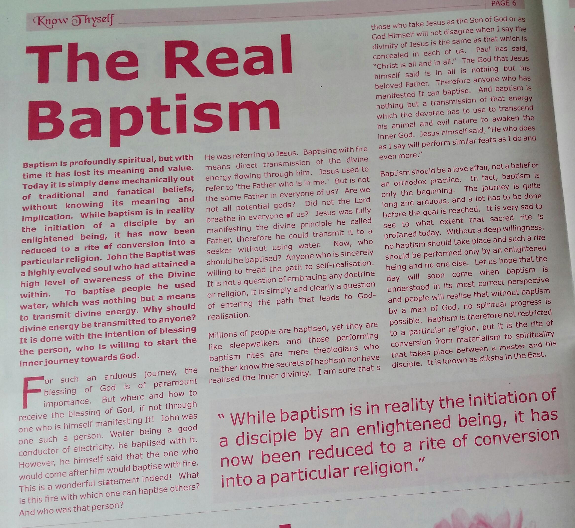 magazine - Baptism
